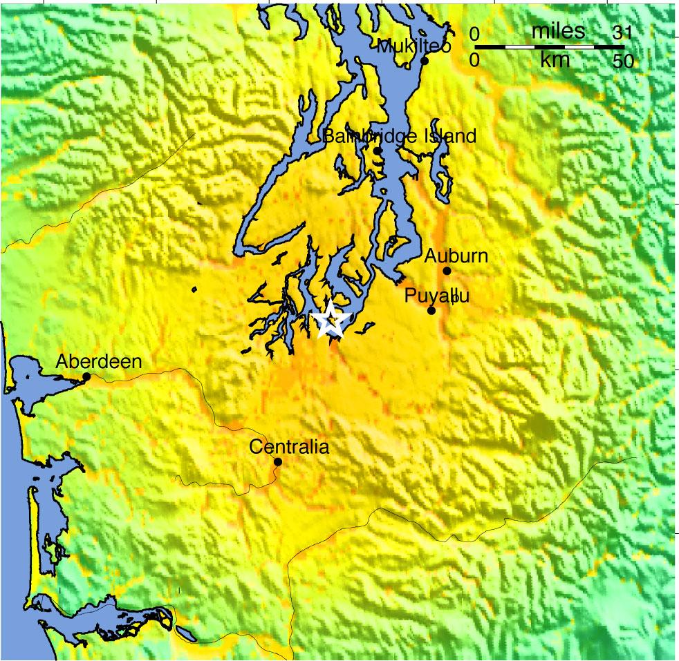 ShakeMaps Shake Map on