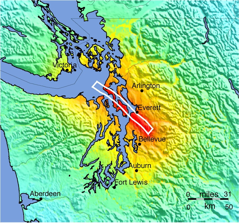 Whidbey Island Faults Map